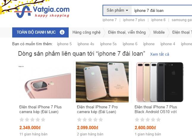 Nhiều điện thoại iPhone 7 được giao bán trên mạng với giắ rẻ bất ngờ. Ảnh:  ICTnews
