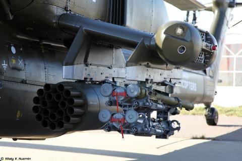 Cận cảnh vũ khí chiến đấu trên trực thăng chiến đấu Mi-28NM. Ảnh: Đất Việt