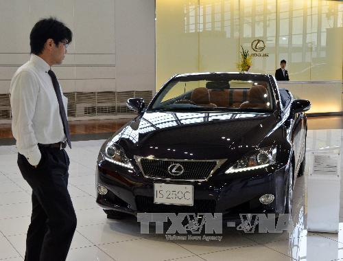 Toyota thu hồi gần 16.000 xe Lexus tại Trung Quốc do lỗi túi khí. Ảnh: Ảnh: AFP/TTXVN