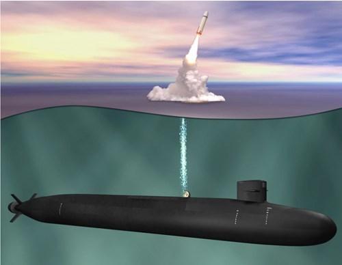 Tàu ngầm với lớp Columbia Mỹ. Ảnh: Giao Thông