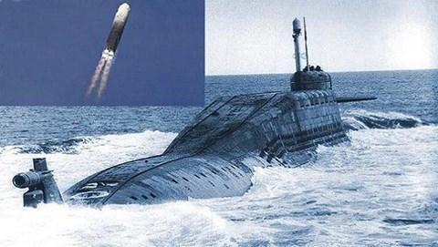 Tên lửa Liner được phóng từ tàu ngầm Nga. Ảnh: an ninh Thủ Đô