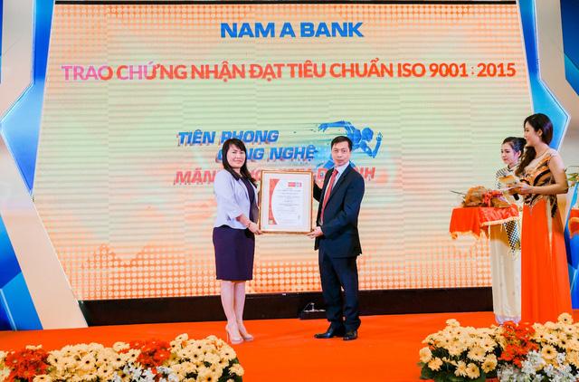 Nam A Bank vinh dự đạt chứng nhận Tiêu chuẩn ISO 9001:2015.