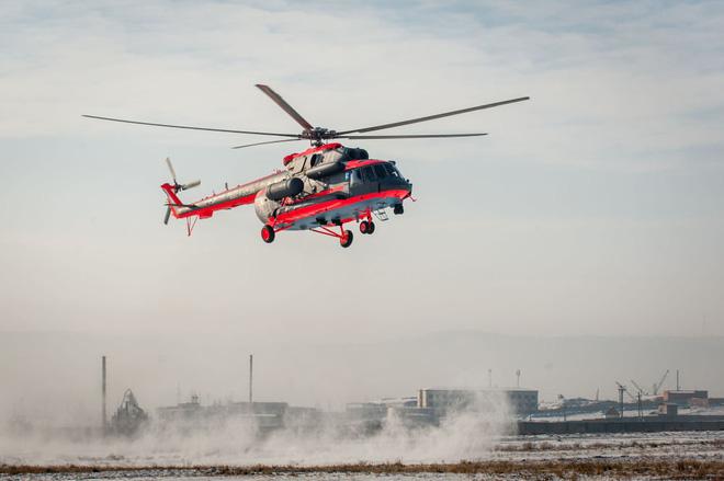 Trực thăng Mi-8AMTSh-VA giờ có thể hoạt động trong nhiều điều kiện thời tiết và cả đêm lẫn ngày.  Ảnh: Trí Thức Trẻ