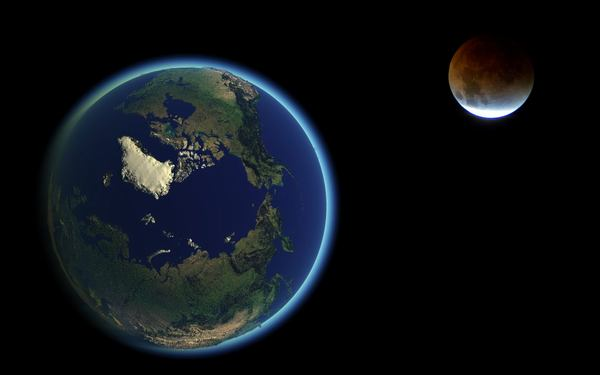 Mặt Trăng là vệ tinh tự nhiên quay xung quanh Trái Đất. Ảnh minh họa