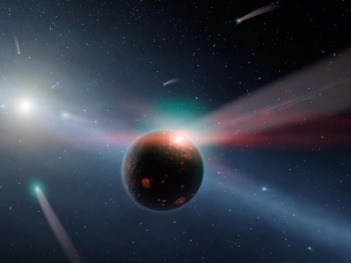 Ngôi sao với tên gọi Gliese 70 đang tiến về phía Hệ Mặt trời. Ảnh minh họa