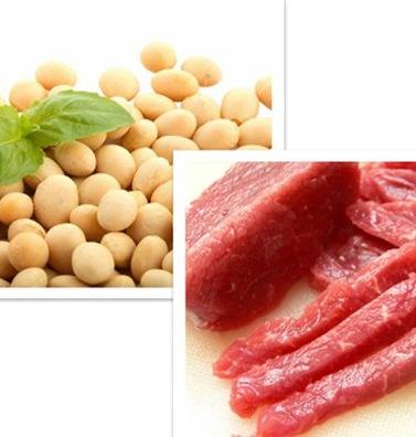 Thịt lợn kết hợp với đậu tương cũng sẽ làm giảm dinh dưỡng. Ảnh minh họa
