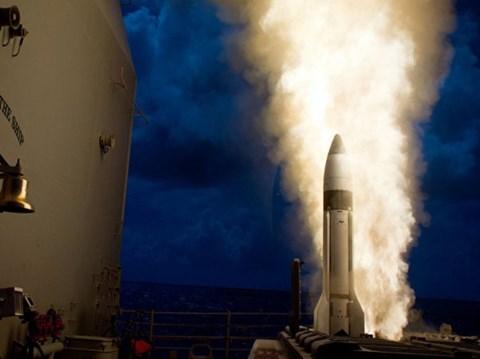 Tên lửa SM-3 Block IIA trong một lần khai hỏa. Ảnh: An Ninh Thủ Đô