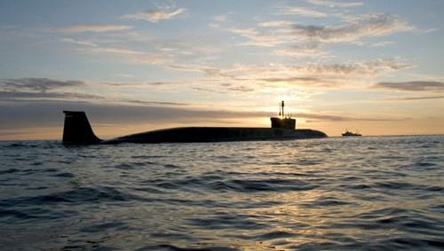 Tàu ngầm Yury Dolgoruky được giới quân sự đánh giá là tàu ngầm nguyên tử tốt nhất thế giới. Ảnh: GDVN