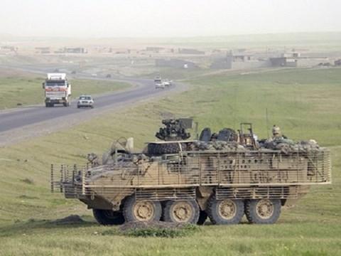 Xe chiến đấu Stryker là dòng xe chiến đấu bánh lốp 8 bánh uy lực nhất của Mỹ. Ảnh: an ninh Thủ Đô