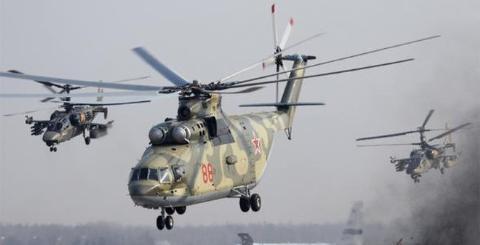 Trực thăng vận tải Mi-26T2 của Nga. Ảnh: Đất Việt