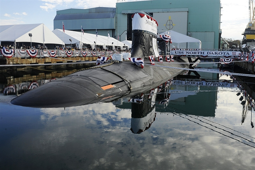Tàu ngầm USS North Dakota thuộc lớp Virginia được biết đến như là một loại tàu ngầm tấn công nhanh. Ảnh: Đất Việt