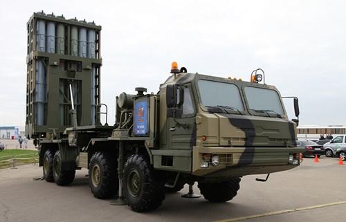 Bệ phóng tên lửa phòng không S-350E Vityaz của Nga. Ảnh: Kiến thức