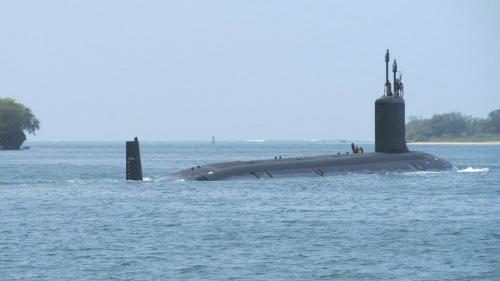 Tàu ngầm hạt nhân USS Mississippi có lượng choán nước: 7.835 tấn. Ảnh: VnExpress