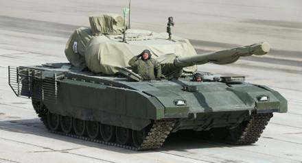 Xe tăng Armata sẽ được sản xuất hàng loạt vào năm 2019. Ảnh: Lao động