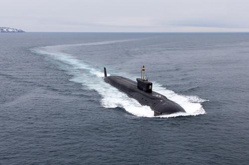 Tàu ngầm Yuri Dolgoruky, được đưa vào hoạt động năm 2008. Ảnh: Thanh Niên