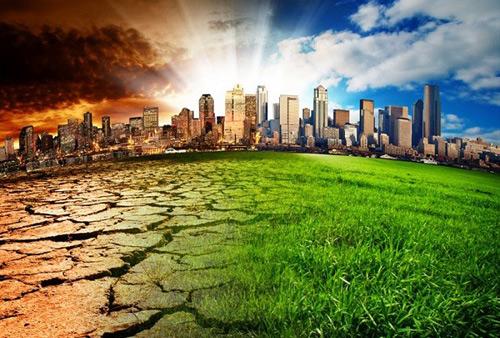 Trái Đất sẽ nóng lên do biến đổi khí hậu. Ảnh minh họa
