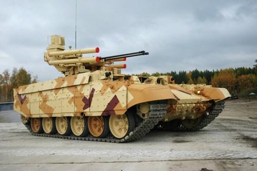 Xe tăng BMPT-72 do Tập đoàn UralVagonZavod Nga phát triển. Ảnh: ANTĐ