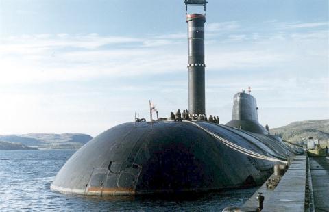 Tàu ngầm Dmitri Donskoy là vũ khí uy lực của Nga. Ảnh: Đất Việt