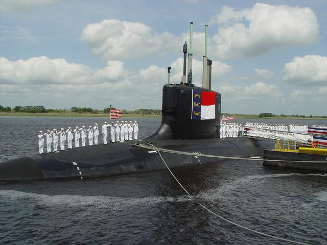 Tàu ngầm USS North Carolina là vũ khí chủ chốt trên đảo Guam của Mỹ. Ảnh: Trí thức trẻ