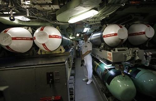 Tàu ngầm USS Oklahoma có khả năng mang nhiều vũ khí. Ảnh: Tiền Phong
