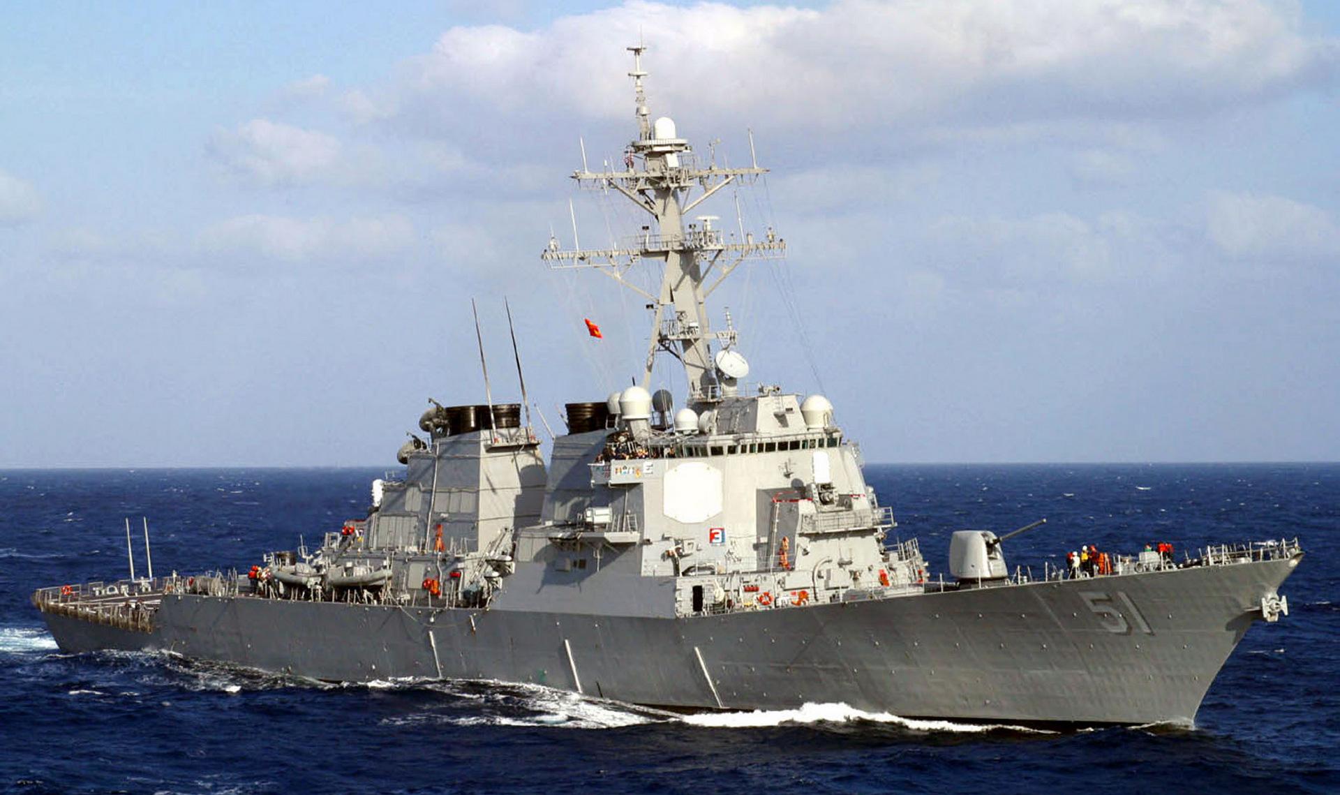 Chiến hạm USS Arleigh Burke Mỹ. Ảnh: VnExpress