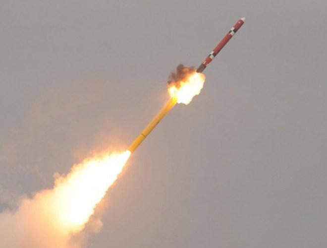 Tên lửa Hyunmoo-3 khai hỏa. Ảnh: ANTĐ