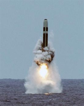 Tên lửa Trident II D5 phiên bản nâng cấp được Mỹ phóng thử thành công. Ảnh: Đất Việt