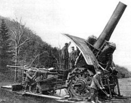 Đại bác Big Bertha 420 mm trở thành vũ khí đáng sợ nhất trong thế chiến thứ 1. Ảnh: TTXVN