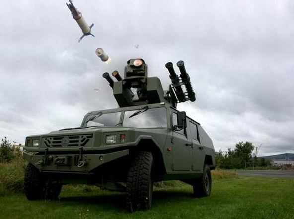 Hệ thống tên lửa tầm thấp Starstreak do công Thales Air Defence, Anh chế tạo. Ảnh: Đất Việt