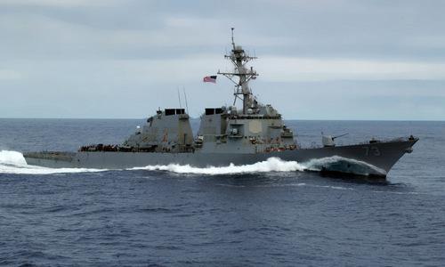 Khu trục hạm USS Decatur. ẢNh: VnExpress