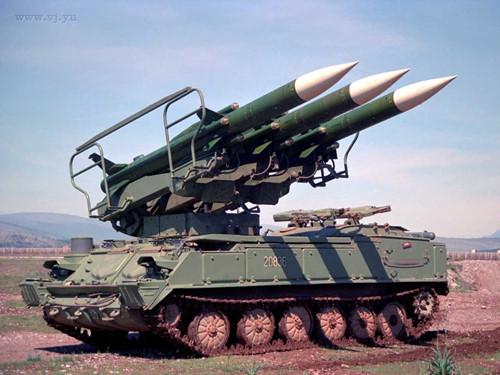 Tổ hợp tên lửa phòng không 2K12 Kub của Nga. Ảnh: Kiến thức