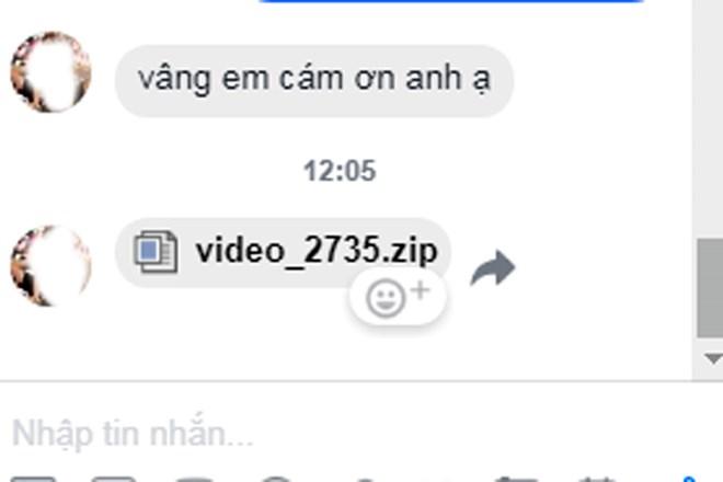Người dùng mạng xã hội nên thận trọng trước tin nhắn như thế này xuất hiện trên tin nhắn Facebook. Ảnh: TTXVN