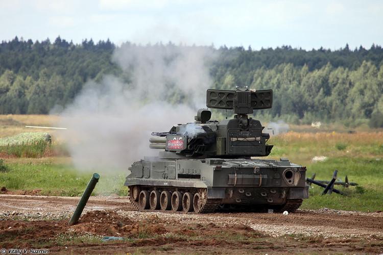 Pháo 2K22M1 Tunguska-M1 của Nga. Ảnh: Kiến thức