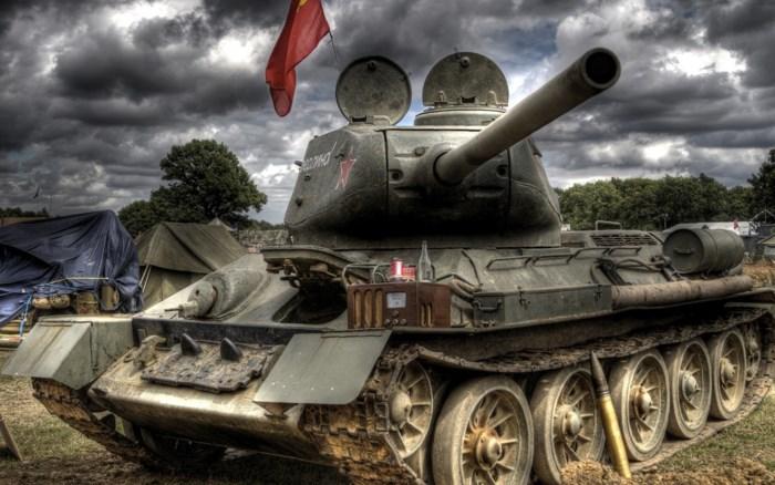 Xe tăng T-34 huyền thoại một thời của Nga. Ảnh: Kiến thức