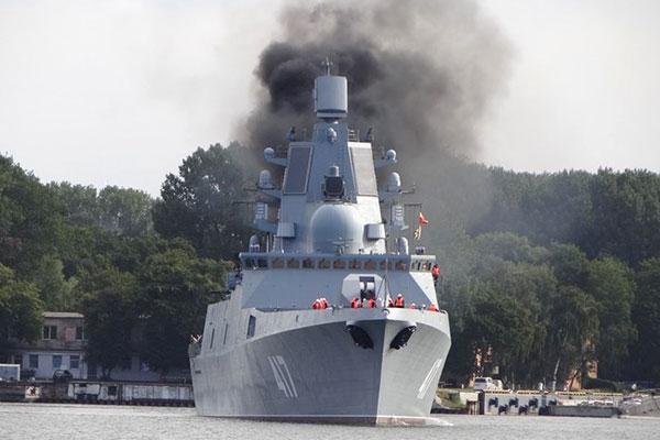 Khinh hạm tên lửa Admiral Gorshkov của Nga. Ảnh: Giao thông
