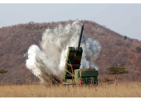 Pháo phản lực KN-09 của Triều Tiên là vũ khí có sức mạnh chỉ đứng sau bom nguyên tử. Ảnh: Kiến thức