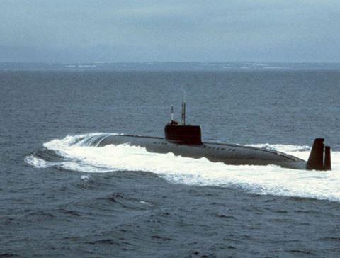 Tàu ngầm K-162 của Nga. Ảnh: ANTĐ