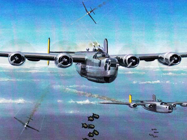 Máy bay ném bom B-24 của Mỹ. Ảnh: Lao động