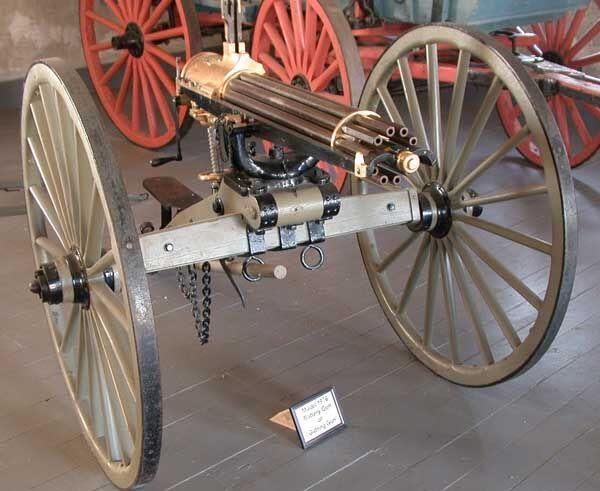 Súng máy Gatling của Mỹ. Ảnh: Trí thức trẻ