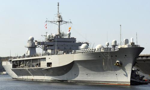 Tàu chỉ huy USS Blue Ridge được coi là vũ khí bộ não của Mỹ. Ảnh: VnExpress