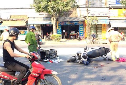 Vụ tai nạn giao thông ngay tại nhà nhưng không ai nhận ra. Ảnh: Đất Việt