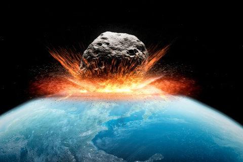 Thiên thạch là thủ phạm luôn rình rập sự an toàn của Trái đất. Ảnh minh họa