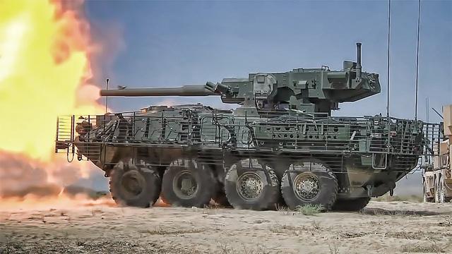 Pháo tự hành Stryker M1128 MGS được trang bị hệ thống vũ khí mạnh mẽ. Ảnh: Đại Lộ