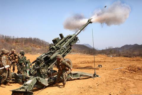 Lựu pháo M777A2 được nâng tầm sức mạnh nhờ đạn siêu tốc. Ảnh: Đất Việt