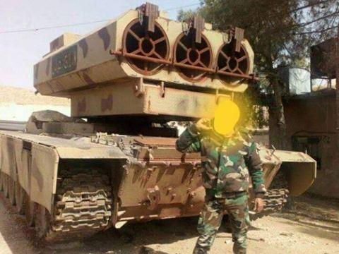 Pháo phản lực Goulan-1000 của Syria. Ảnh: ANTĐ