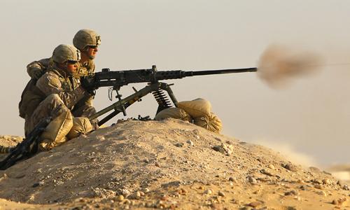 Khẩu súng máy M2 của Mỹ khiến phiến quân IS sợ chết khiếp. Ảnh: VnExpress