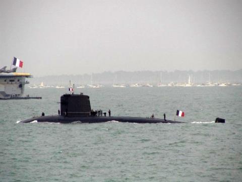 Tàu ngầm hạt nhân lớp Rubis của Pháp. Ảnh: Đất Việt
