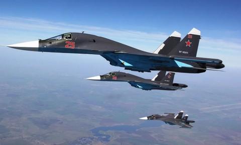 Máy bay Su-34 được Nga điều tới Syria nhiều nhất nhằm diệt phiến quân IS. Ảnh: CAND