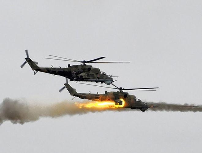 Trực thăng Mi-35M là vũ khí được Nga tiếp tục điều tới Syria mặc dù mới được biên chế. Ảnh: ANTĐ