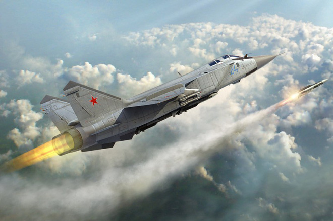 Tiêm kích Mig-34 là vũ khí sở hữu tên lửa hủy diệt hàng loạt nhưng lại chưa được Nga điều tới Syria. Ảnh: Thời Đại
